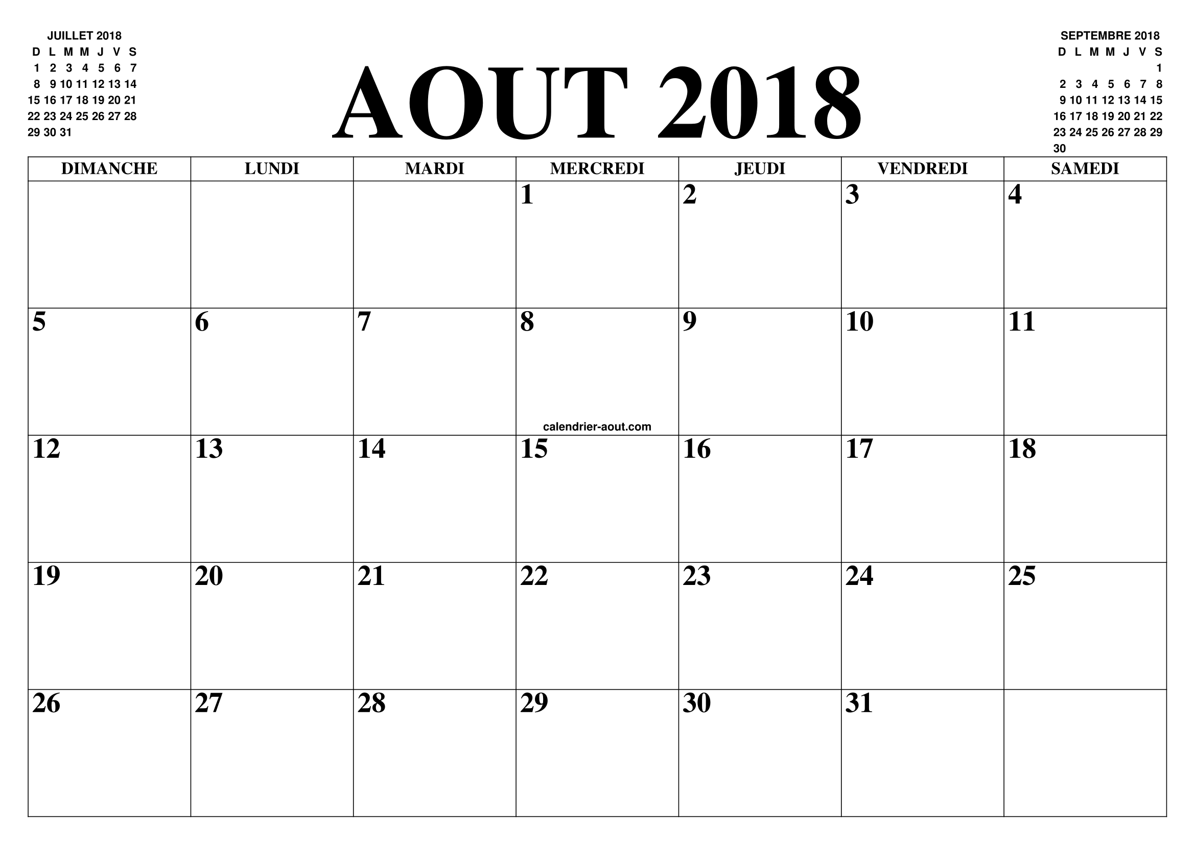 calendrier aout 2018 2019 le calendrier du mois de aout 2018 2019 gratuit a imprimer agenda. Black Bedroom Furniture Sets. Home Design Ideas