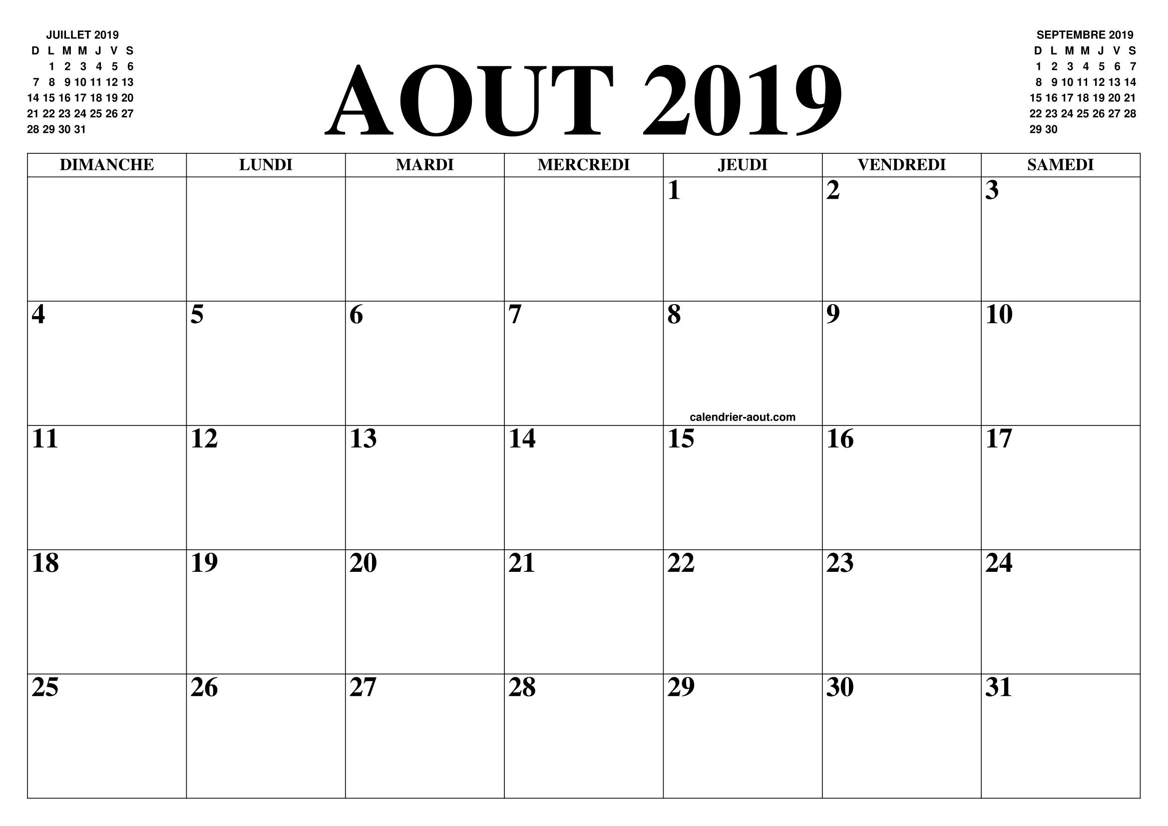 Calendrier Du Mois De Juillet 2019.Calendrier Aout 2019 2020 Le Calendrier Du Mois De Aout
